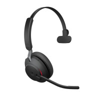 Jabra Evolve2 65 UC Mono Headset with USB Link380c Adapter - Black