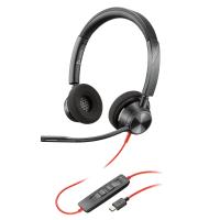 Plantronics Blackwire 3320, BW3320 USB-C Headphones with microphone