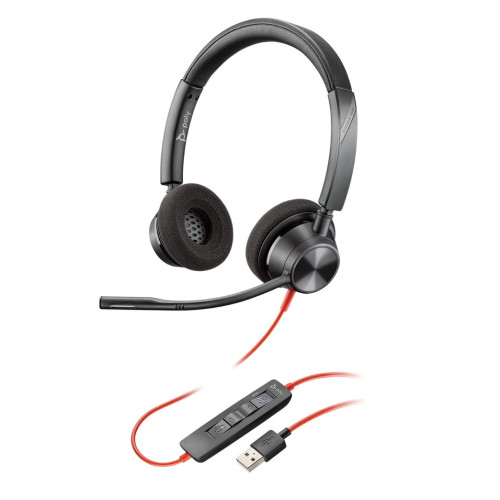 Plantronics Blackwire 3320, BW3320 USB-A Headphones with microphone