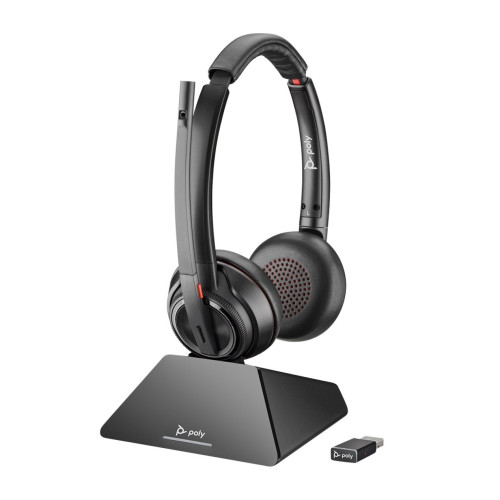 Plantronics SAVI 8220 UC MS USB-A Stereo DECT Headphones with microphone (for software phones and computers)